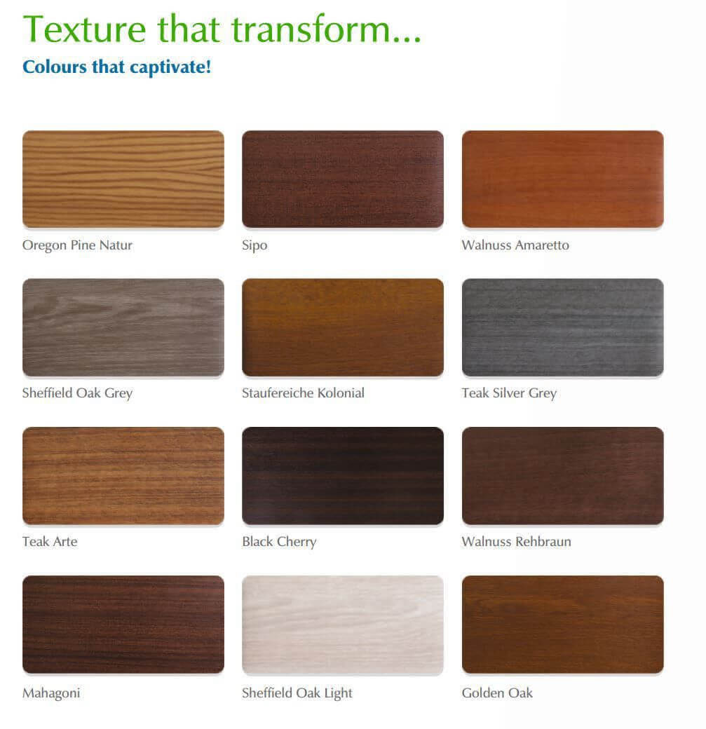 Coloured uPVC Windows in Wooden textures
